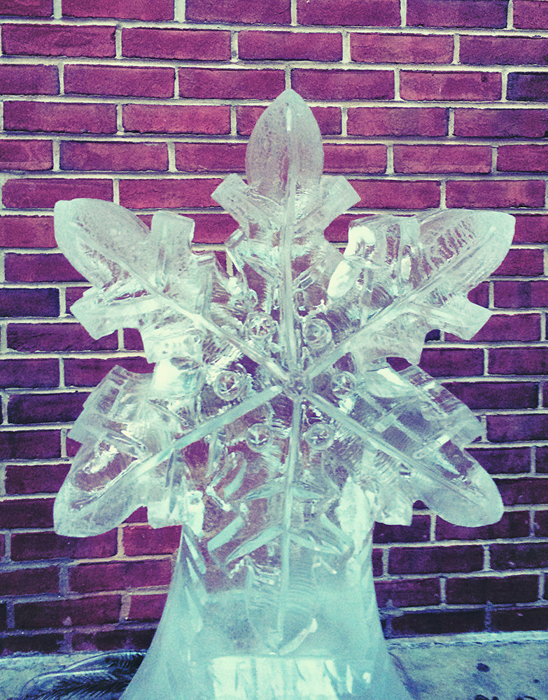 snowflake ice sculpture web