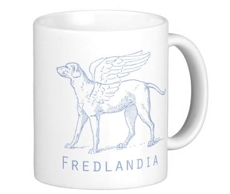 Fredlandia dog with wings-mug